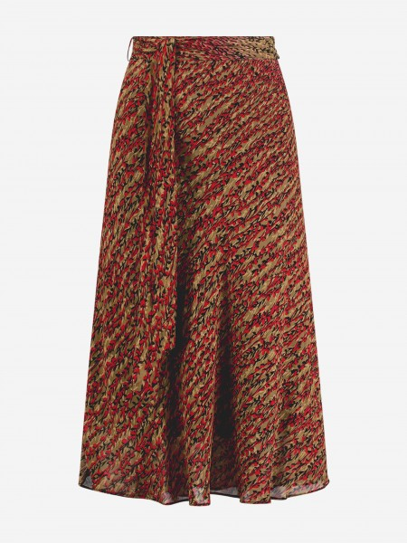 A-line skirt with flower print