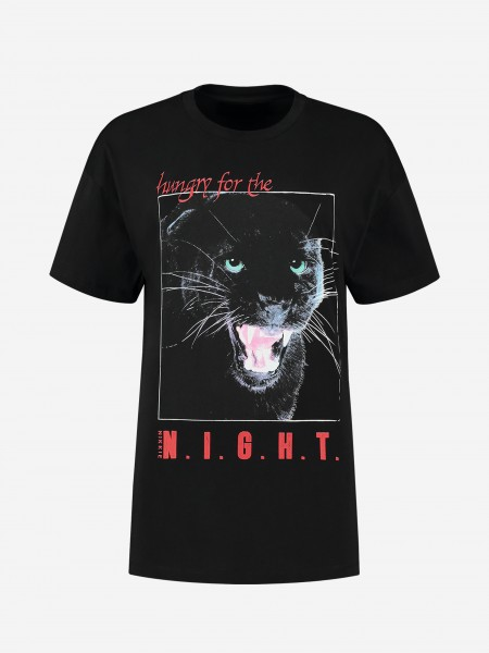 T-shirt with panther artwork