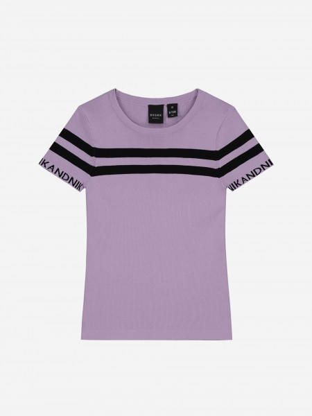 FITTED TOP WITH STRIPES
