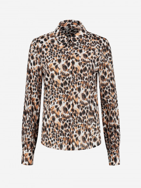 BLOUSE WITH PANTHER PRINT