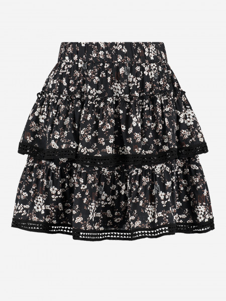 skirt with ruffles and flowerprint