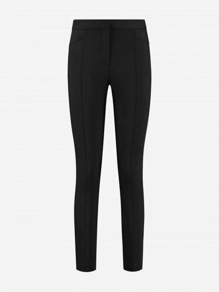 Black pants with inverted pleat