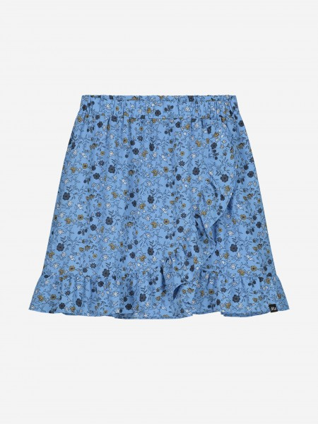 Ruffle skirt with floral print