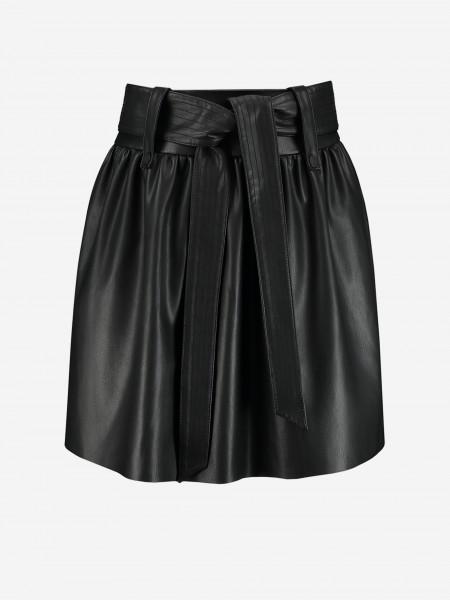 Vegan leather paperbag skirt