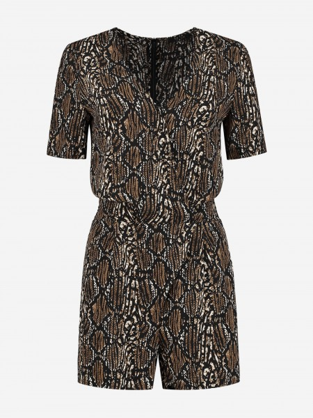 PLAYSUIT WITH ALL OVER ANIMAL PRINT