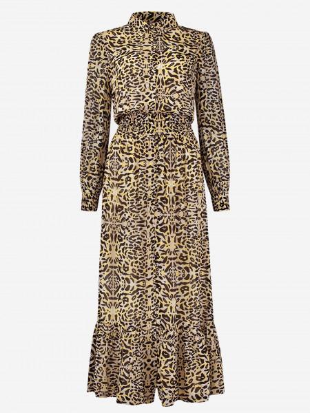 maxi dress with leopard print