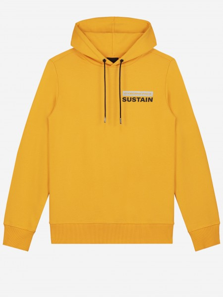 Hoodie with artwork and logo embroidery
