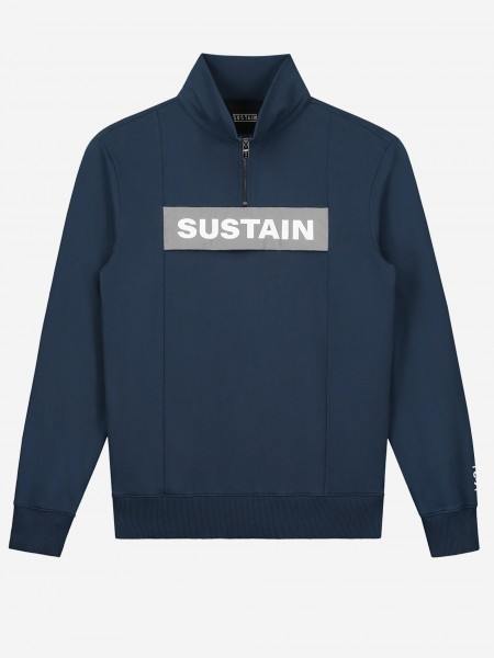 Plain sweater with reflective logo