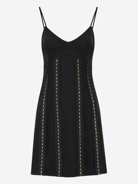 DRESS WITH LACE STRIPES