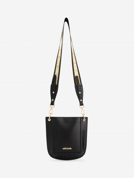 Crossbody bag with glitter strap