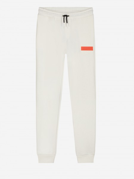 Sweat pants with orange patch
