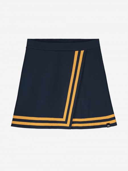 A-line skirt with stripes