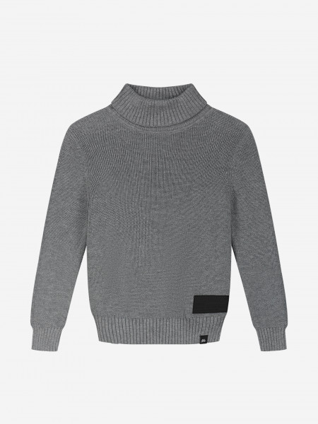 Turtleneck with logo patch