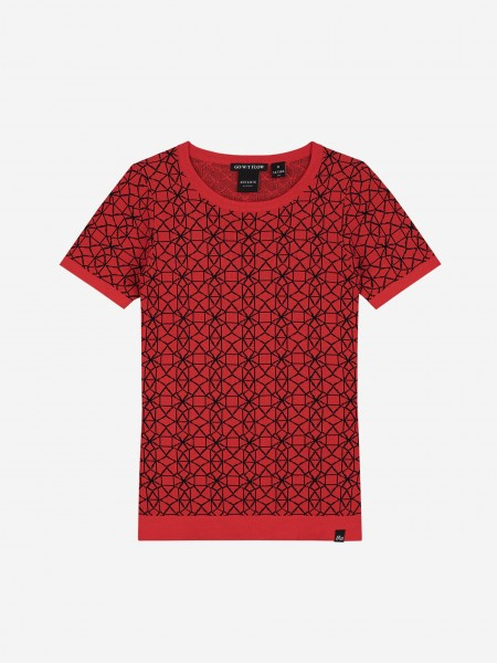 Top with graphic print