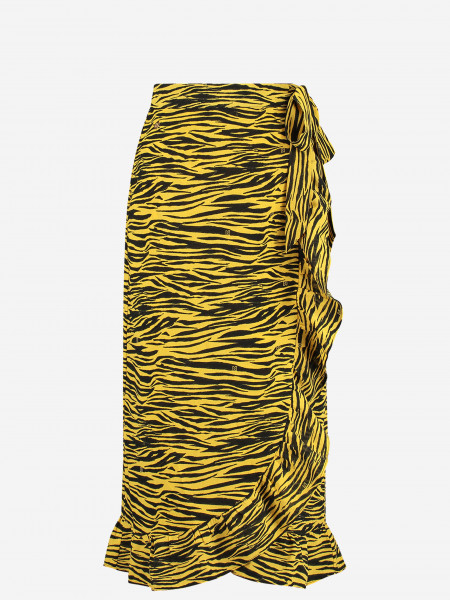 LONG SKIRT WITH ALL-OVER TIGER PRINT
