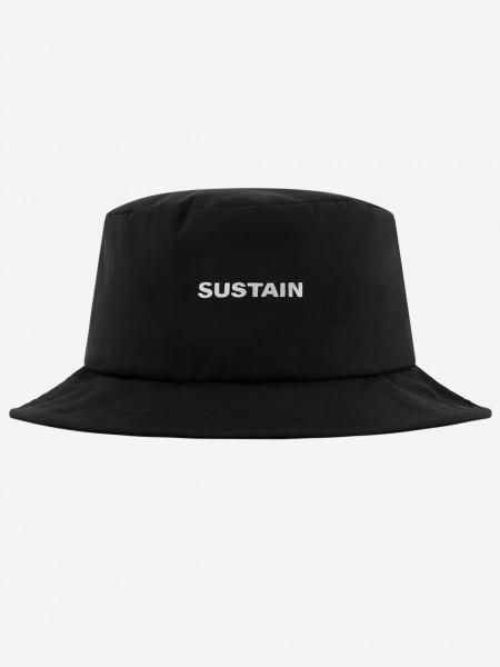 Black bucket hat with artwork