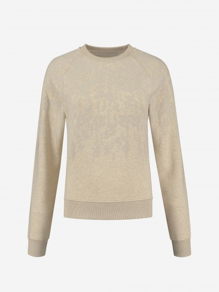 SWEATER WITH FLOWER TEXTURE
