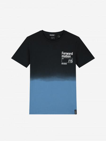 T-shirt with dip dye