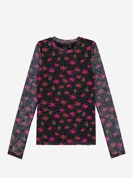 Tight top with flower print