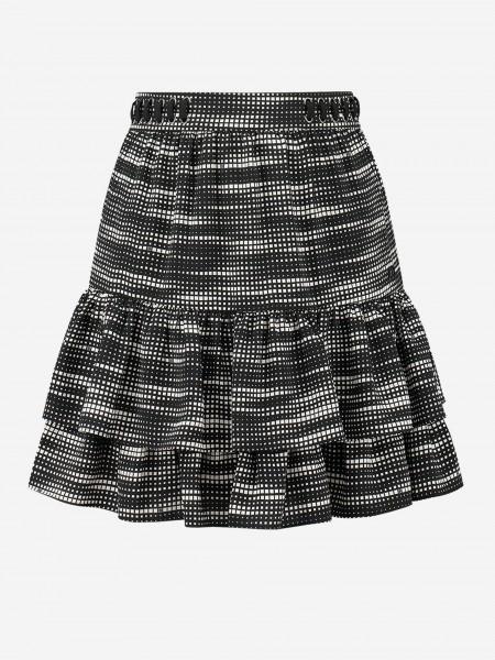 Skirt with geometric print