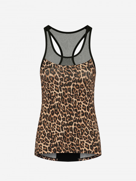Top with leopard print