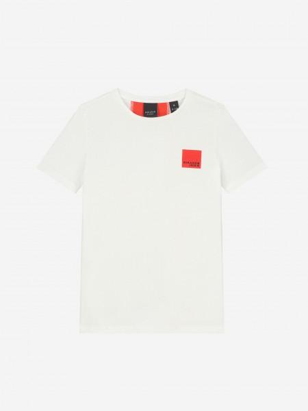 T-Shirt With Logo Stripe