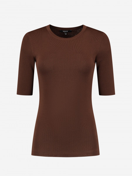 Tight top with round neck