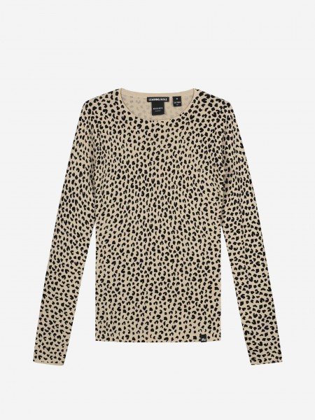 Top with all over animal print
