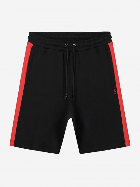 Black shorts with red trim