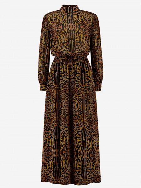 Long dress with animal print