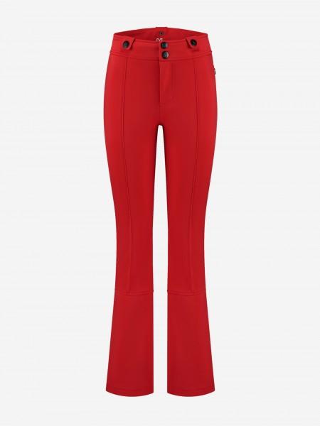 Red ski pants