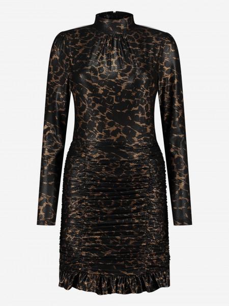 Leopard gold dress