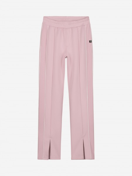 Pink pants with trim and slit