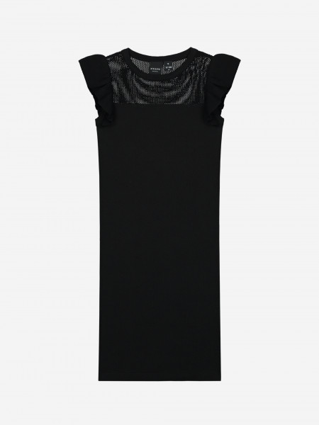 FITTED DRESS WITH RUFFLES