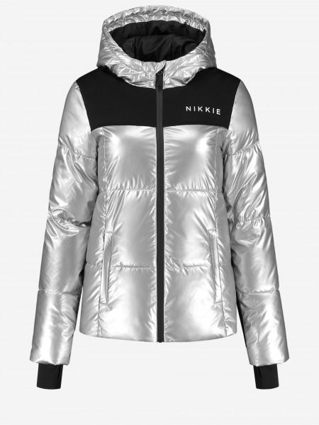 Silver ski jacket
