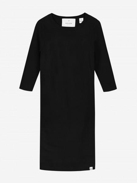 Black dress with three quarter sleeves