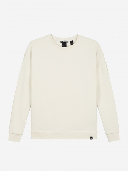 Sweater with logo patch