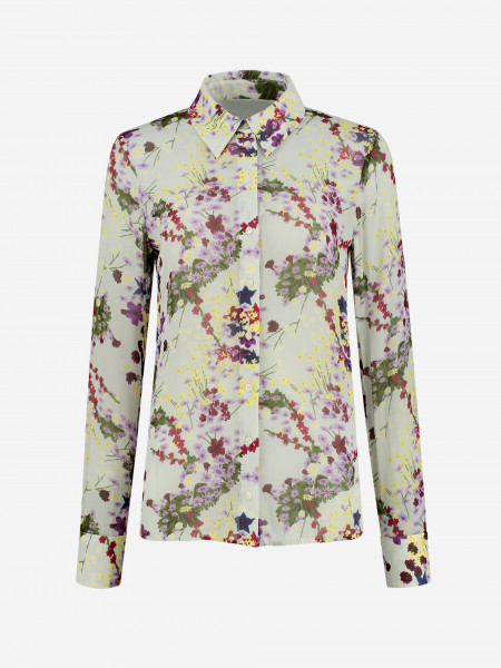 BLOUSE WITH ALL-OVER FLOWER PRINT