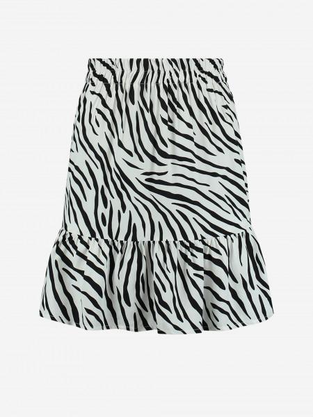 Skirt with zebra print