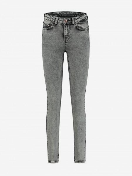 Five pocket grey skinny jeans