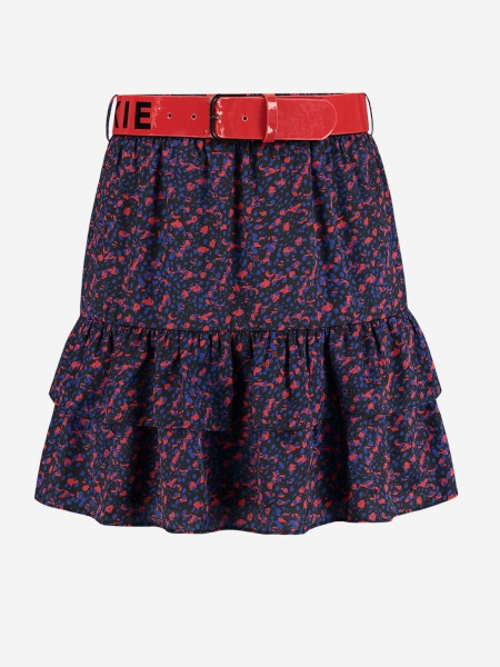 Short skirt with NIKKIE logo belt