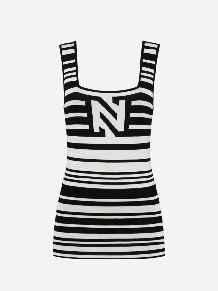 STRIPED TOP WITH N LOGO