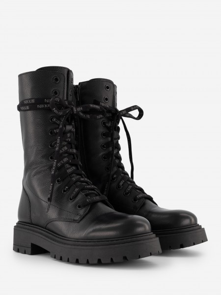 LEATHER BOOTS WITH LACES