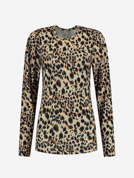 FITTED TOP WITH PANTHER PRINT