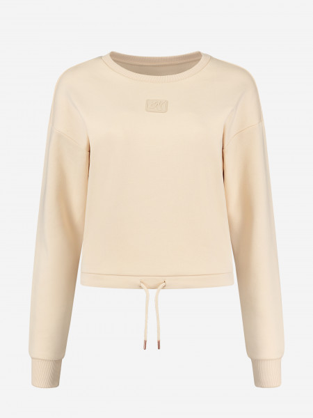 Sweater with drawstrings