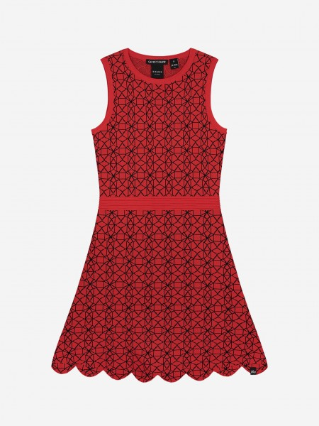 Dress with graphic print