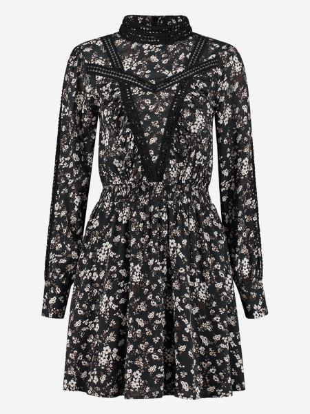 dress with ruffles and flower print